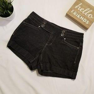 WHBM Black Denim Shorts